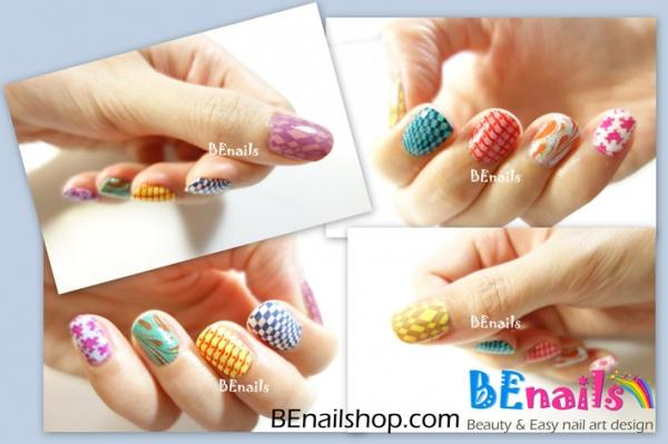 BEnails指彩-一口氣示範十款夏日必備轉印指甲彩繪 .